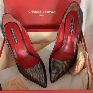 Charles Jourdan leather heels